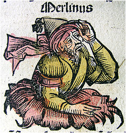 13th century image of Merlin